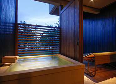 All rooms furnished with open-air baths